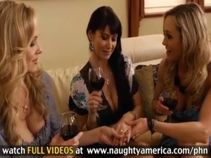 Julia Ann, Brandi Love and Eva Karrera Have Bachelorette Fucking