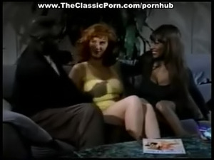 Threesome from classic 80s porn film