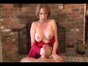 Mother help boy