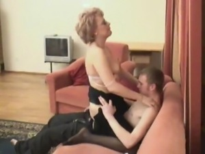 Hot russian mom in stockings is ... free