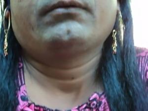 Indian girl shaving her armpits ... free
