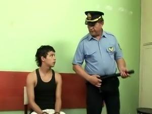 Sucking & fucking a Police Man
