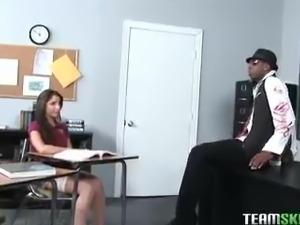 InnocentHigh Brunette latin schoolgirl interracial fuck classroom