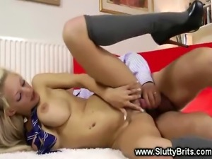 Hot babe gets fucked from behind and loves it a lot
