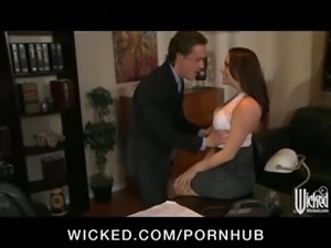 Sexy big-tit secretary Chanel Preston fucked by her boss at work