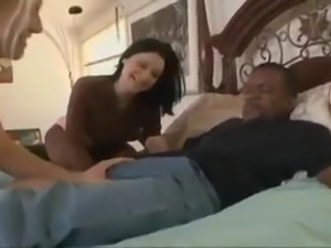 Black guy destroyed brinete girl