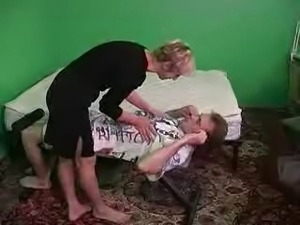 RUSSIAN MOM 10 mature with a young man