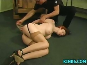 Her sexy tits beat to red