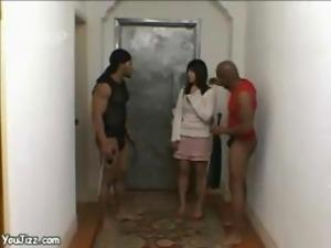 Japanese Chick Goes Black -