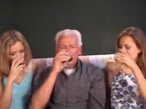 grandpa nailing 2 girls