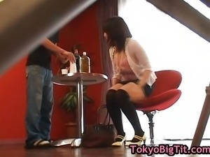 Busty asian babe gets breasts massaged
