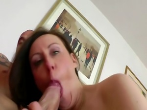 Horny Milf wearing stockings and boots enjoying a hardcore fucking