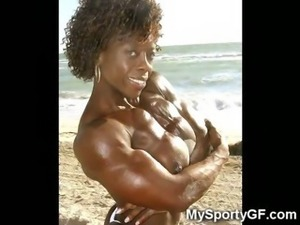 Ebony Muscular Fitness Girls!