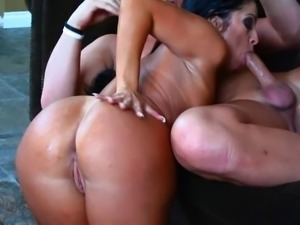 Chick dominated by dildo