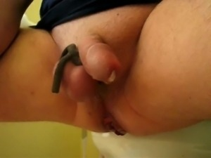 anal stretching prostate milking huge insertion cum