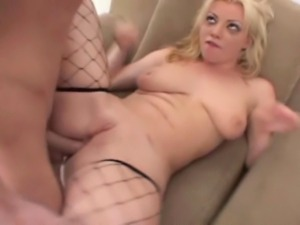 29 year old blonde with 34D tits and a 37 inch ass does rough anal, DP, and...