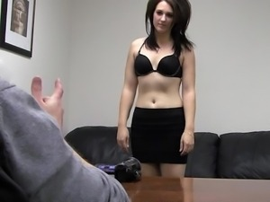 Young Lindsey posing on camera
