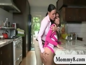 Big titted teen and her stepmom lesbosex and threesome action free