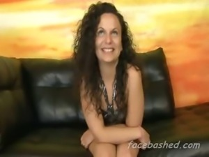 Amateur chick ready for rough blowjob or maybe not watch as she gags badly