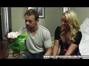 Blonde Alexis Monroe takes a big dick