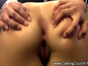 Shy Argentina girl gets a facial at the Casting Couch