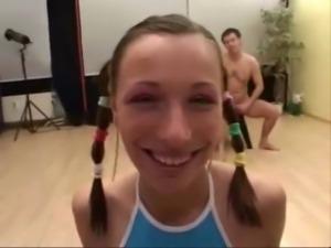 Smiling German girl Sandra loves to eat cum free