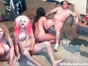 Crazy amateur swinger party