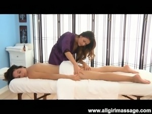 Doggystyle pussy eating of hot babes massage