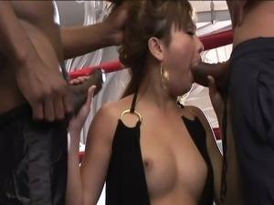 Tia tanaka's two black dicks