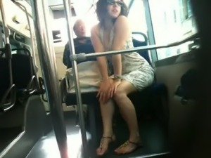 French upskirt Bus Nice.MOV free