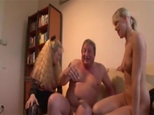 Lucky Older Man Has Sex With Mom And Daughter free