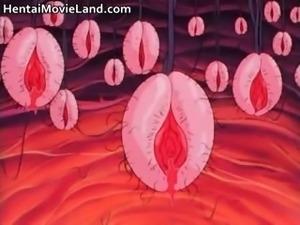 Naked anime hottie gets bondage part2