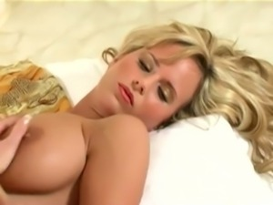 Sexy blonde with natural big boobs free