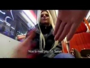 Gorgeo Blond Czech fuck and Squirt in public free