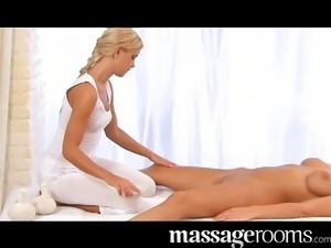 Oily climatic clit massage