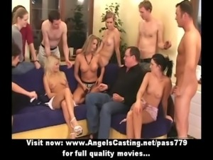 Cute drunken babes do blowjob to strapon dildo and older guy free