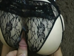HOT WHITE MILF PLAYING WITH HER HUGE TITS AND HAIRY PUSSY, THEN GETTING ANAL!...