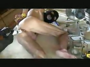 Tied Up Guy Gets Enema