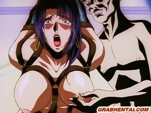 Chained hentai with bigboobs hard sex in the