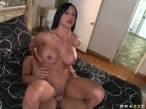 milf riding a hard dick in the bedroom