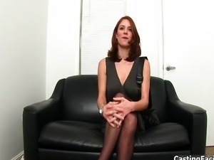 Casting couch girl showing her fine body