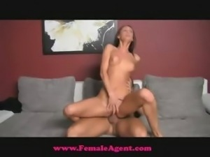 FemaleAgent Accidental creampie casting