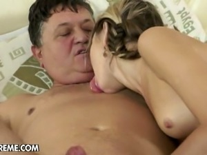 Doris ivy licks an old man's ass