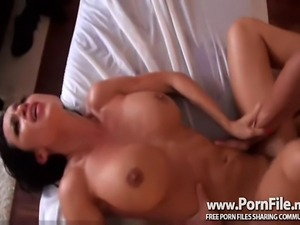 Busty Brunette Hottie Massage