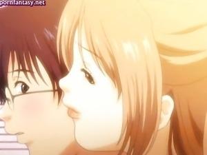 Big tited anime babes lick a cock