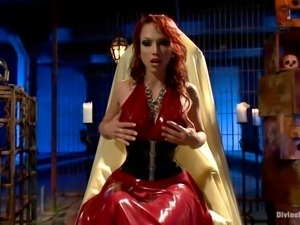 devilish redhead mistress shows her best