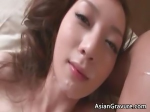 Cute asian babe wakes up for hard cock part5