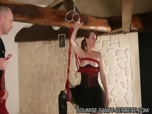 hogited fisting for soumise sandy french bdsm libertine