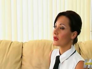Goddess Sandra Romain suck, fuck, lick Katerina Kat feet... Anal sex, feet...