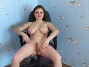 Hottest pissing floozy enjoying her smutty job